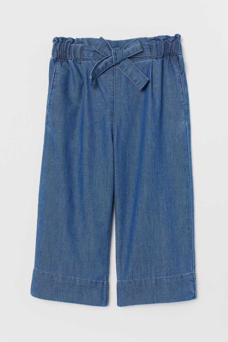 Wide Leg Cropped Jeans - Bleu denim - ENFANT | H&M FR