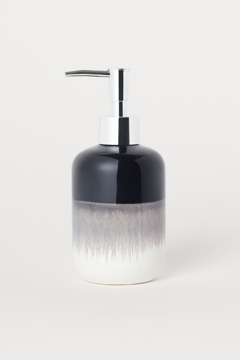 Ceramic soap dispenser - Dark blue - Home All | H&M GB