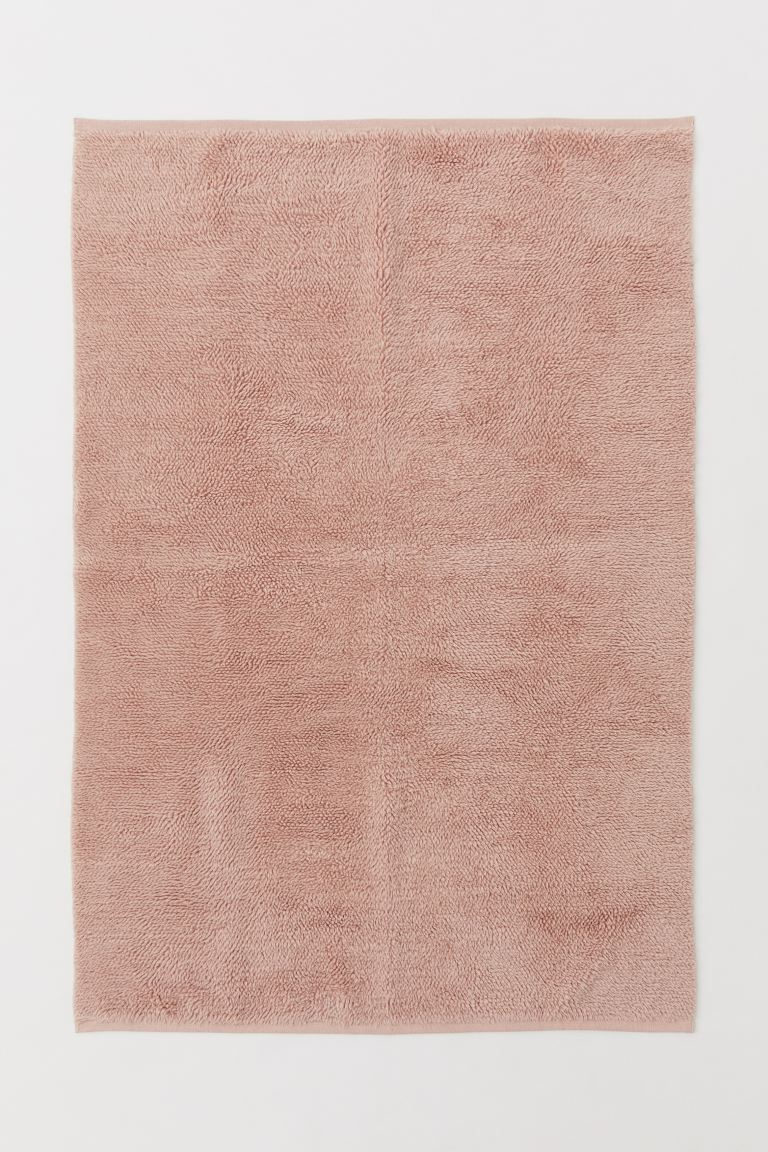 Wool-blend rya rug - Old rose - Home All | H&M GB