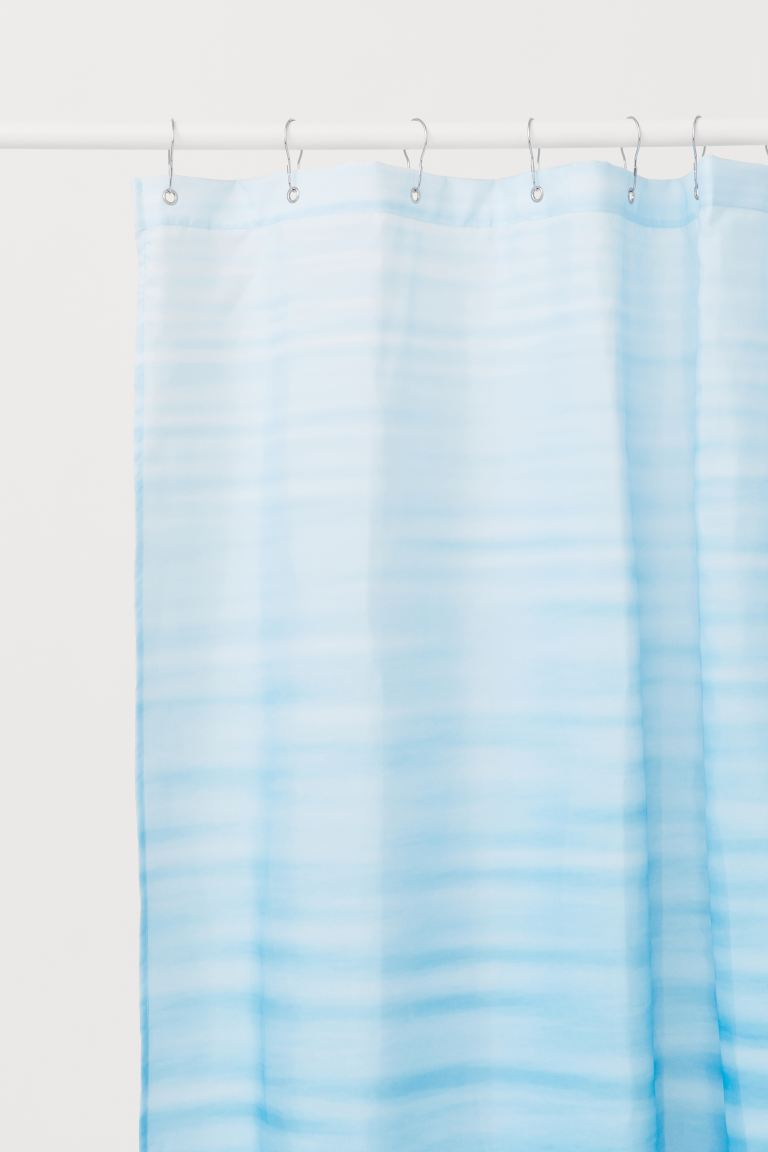 Printed shower curtain - Blue/Ocean - Home All | H&M GB
