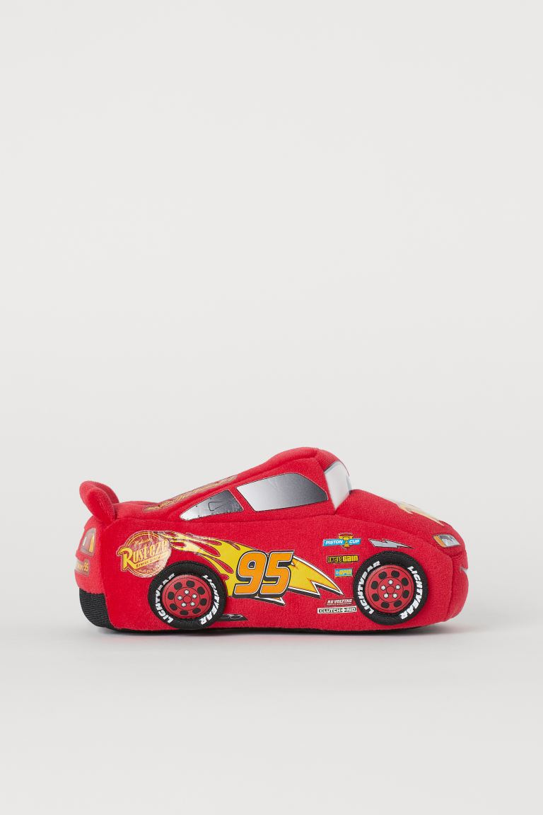 Soft slippers - Red/Cars -  | H&M GB