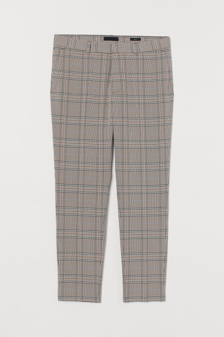 Suit trousers Skinny Fit - Brown/Checked -  | H&M