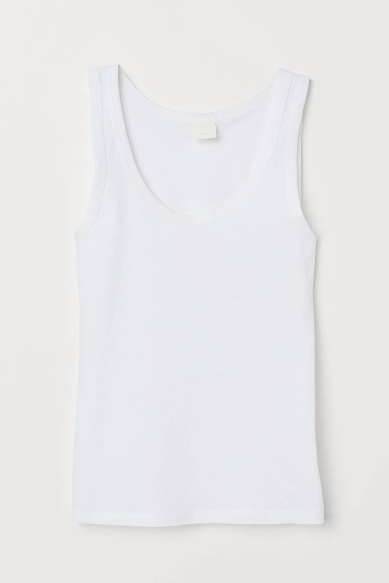 Cotton Tank Top - White - Ladies | H&M US