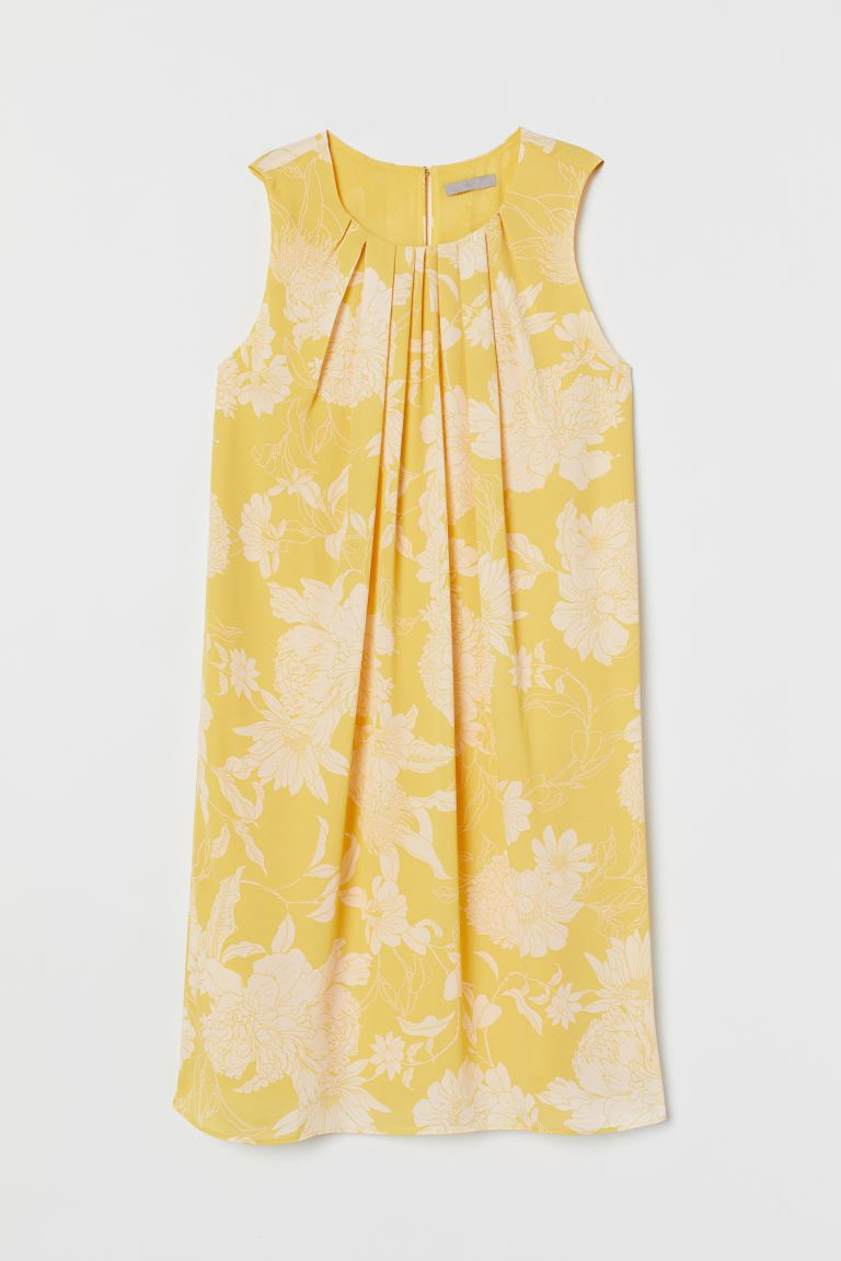 A-line dress - Yellow/Floral - Ladies | H&M