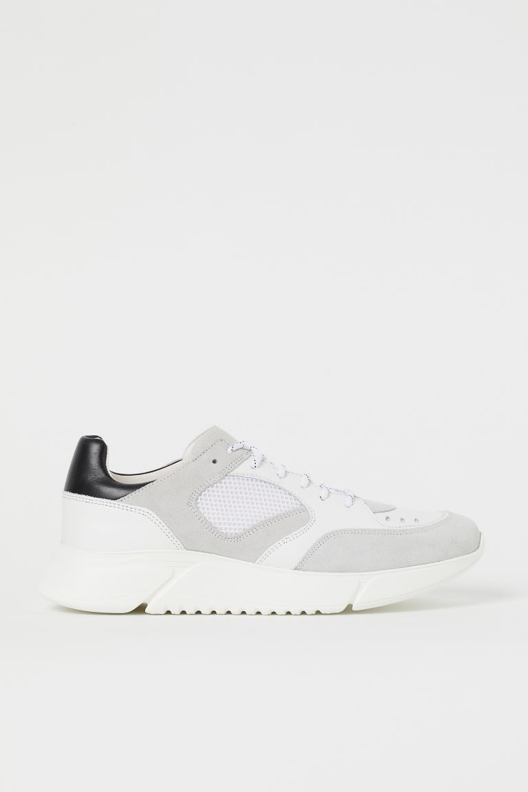 Sneakers in pelle - Bianco - UOMO | H&M CH
