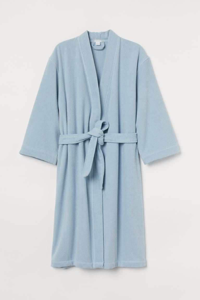 Bademantel aus Frottee - Hellblau - Home All | H&M AT