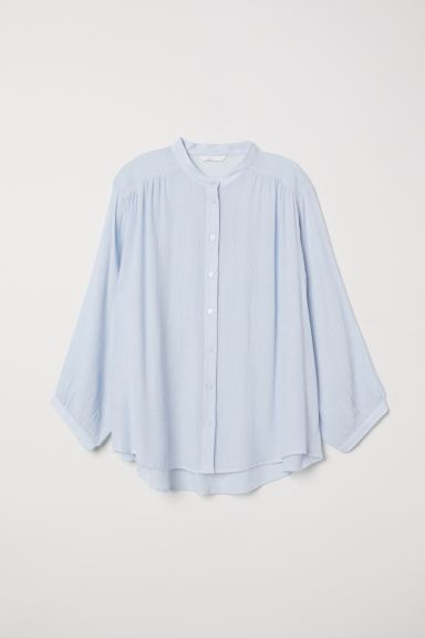 Crinkled blouse - Light blue - Ladies | H&M GB