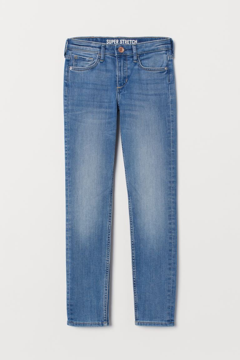 Superstretch Skinny Fit Jeans - Ljus denimblå - BARN | H&M FI