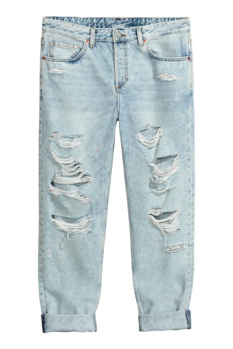 Boyfriend Low Ripped Jeans - Hellblau - Ladies | H&M DE