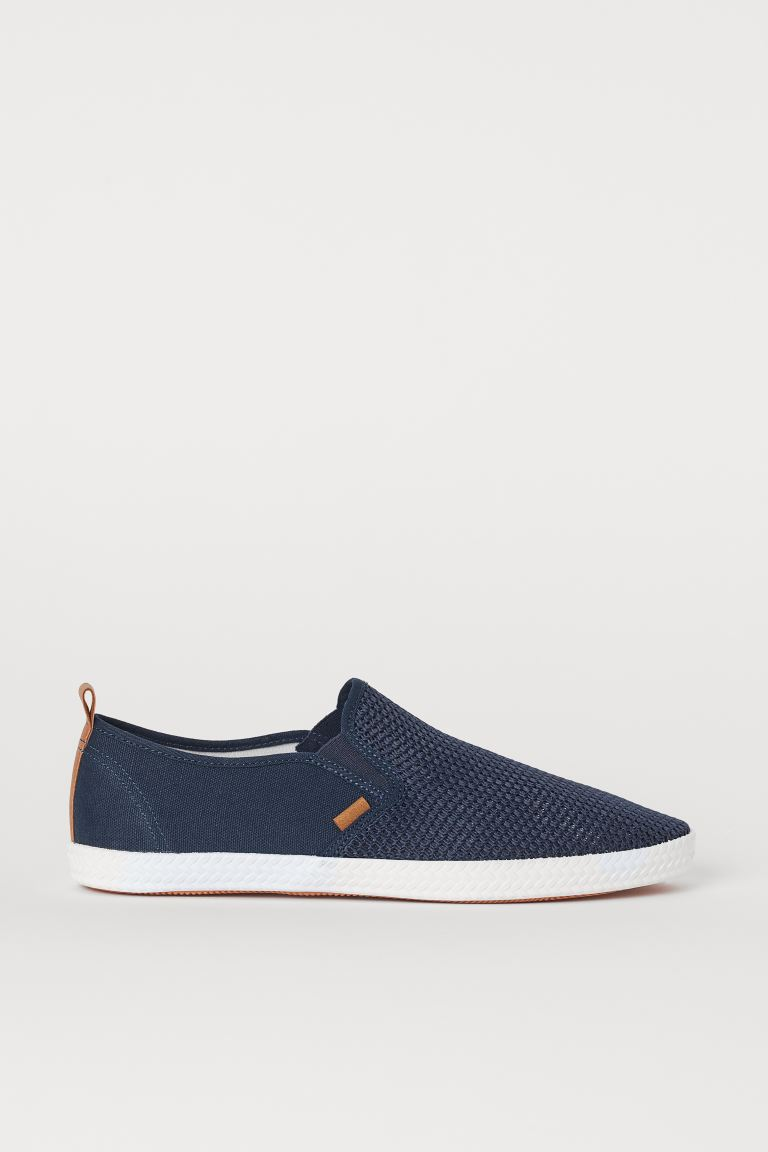 Sneakers slip-on - Blu scuro/mesh - UOMO | H&M IT