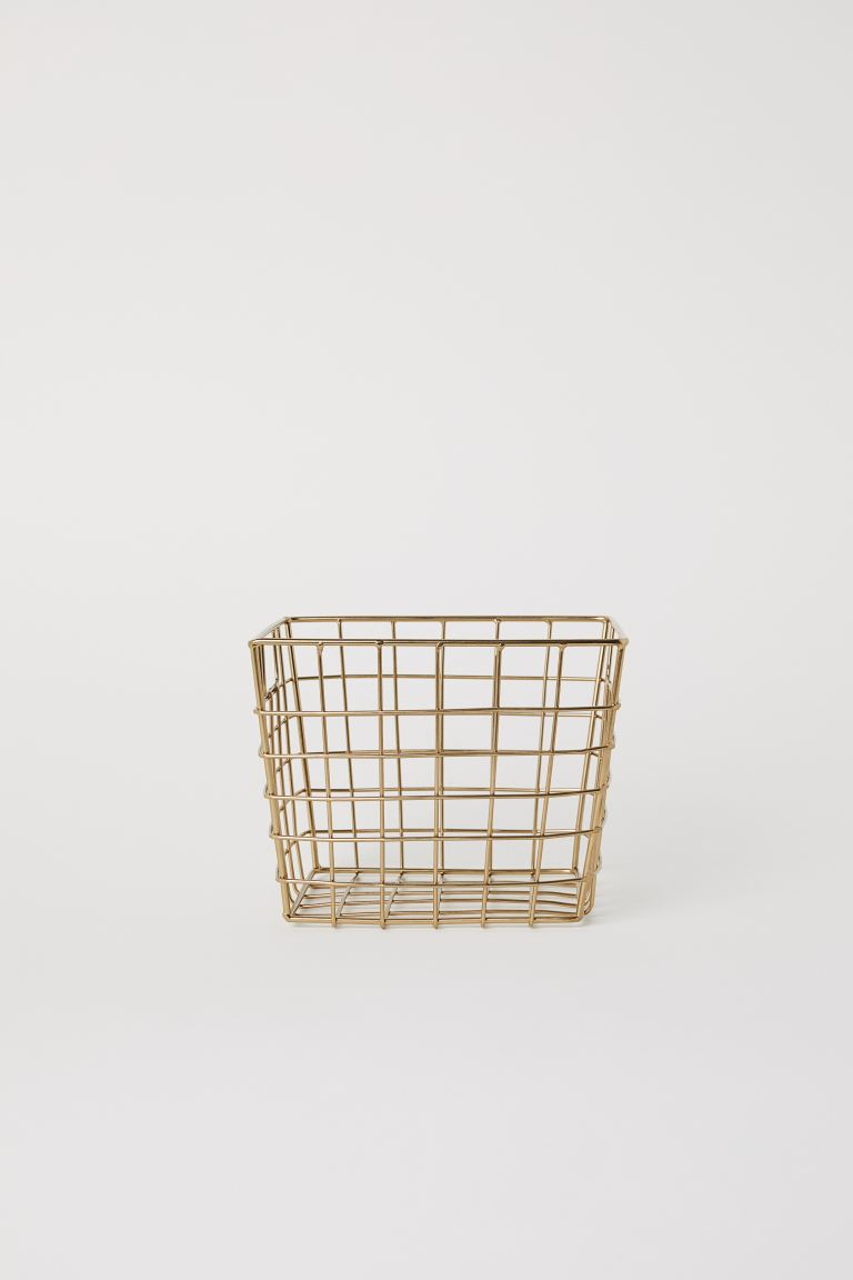 Storage basket - Gold - Home All | H&M GB