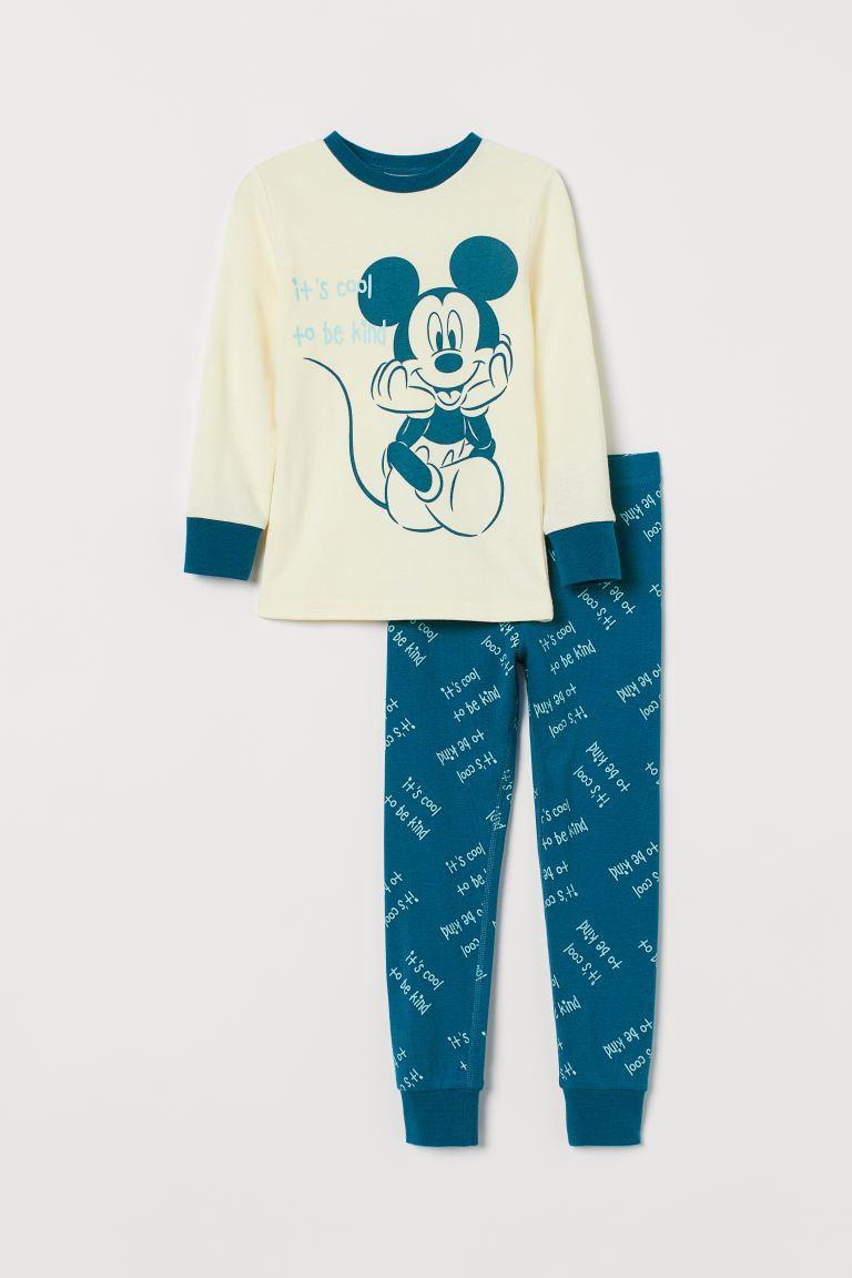 Printed pyjamas - Blue/Mickey Mouse - Kids | H&M GB