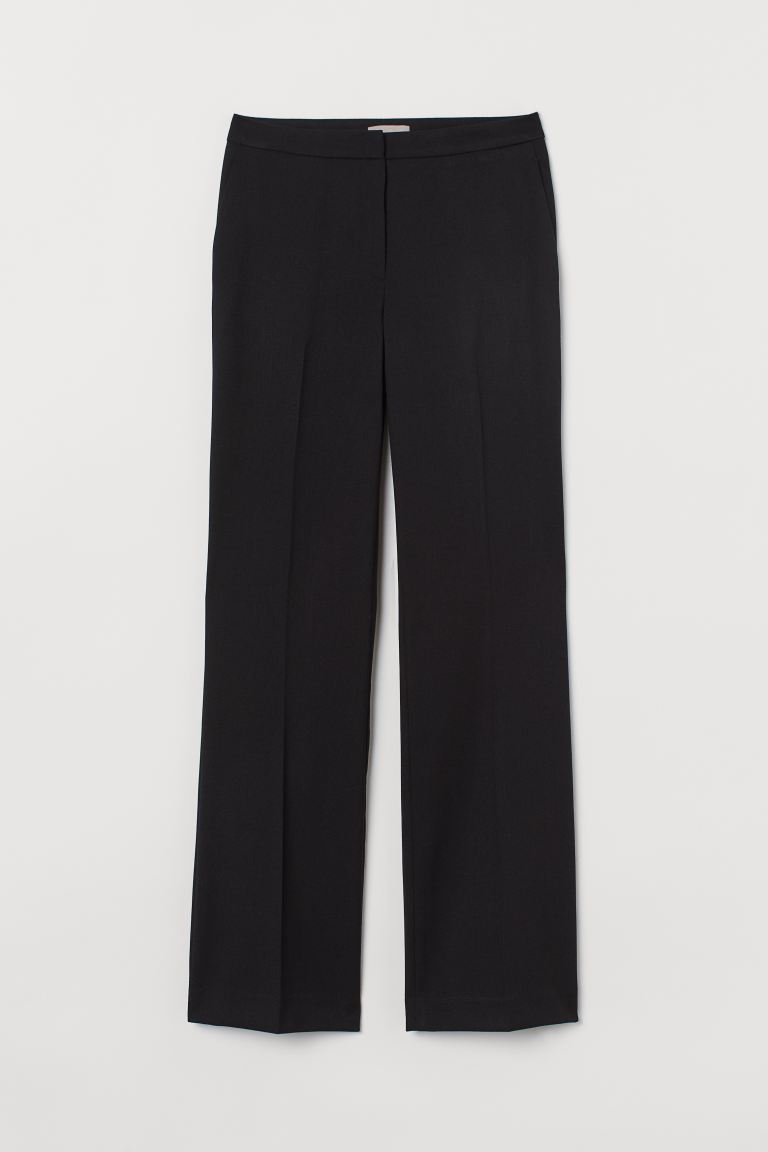 Suit Pants with Creases - Black - Ladies | H&M US