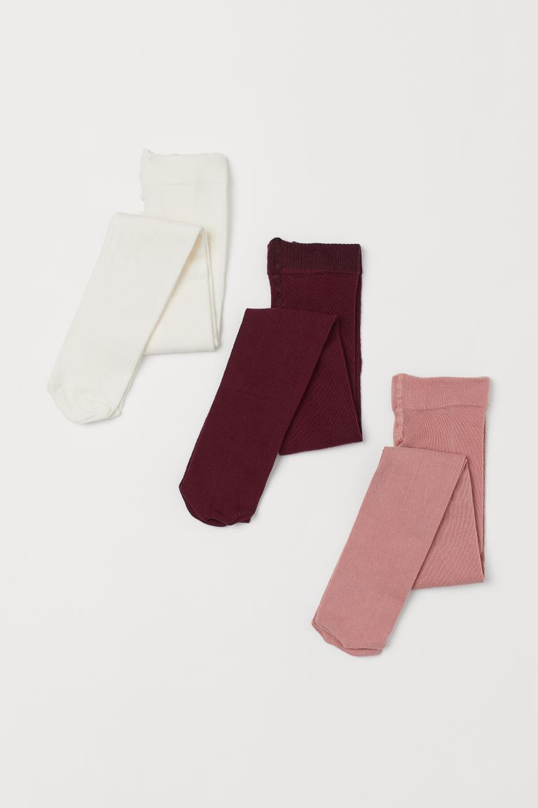 3-pack fine-knit tights