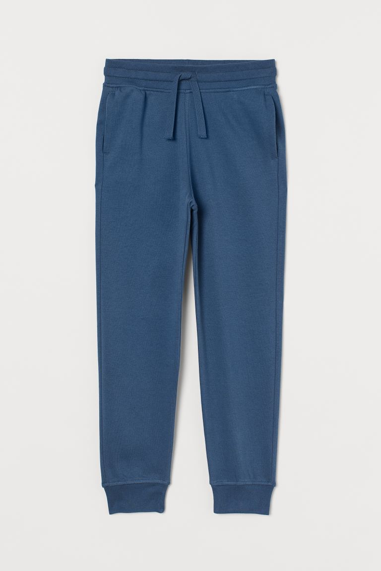 Cotton-blend Joggers - Steel blue - Kids | H&M CA