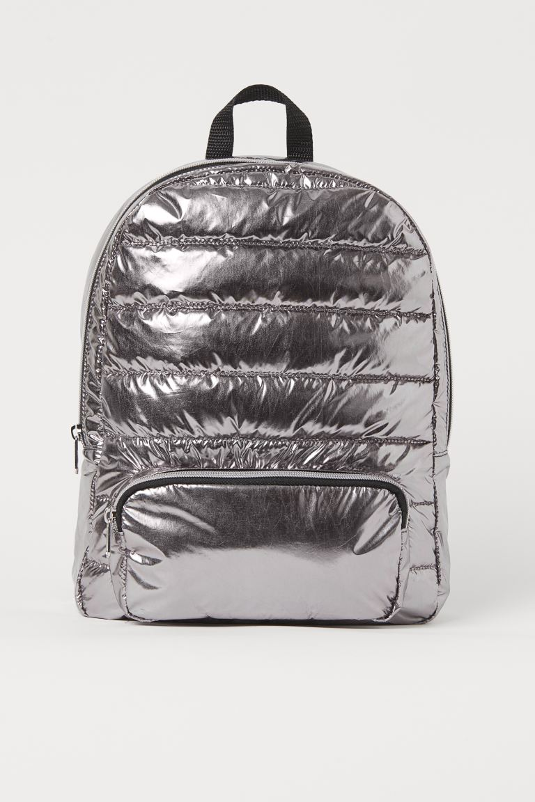 Shimmering metallic backpack - Metallic purple - Kids | H&M