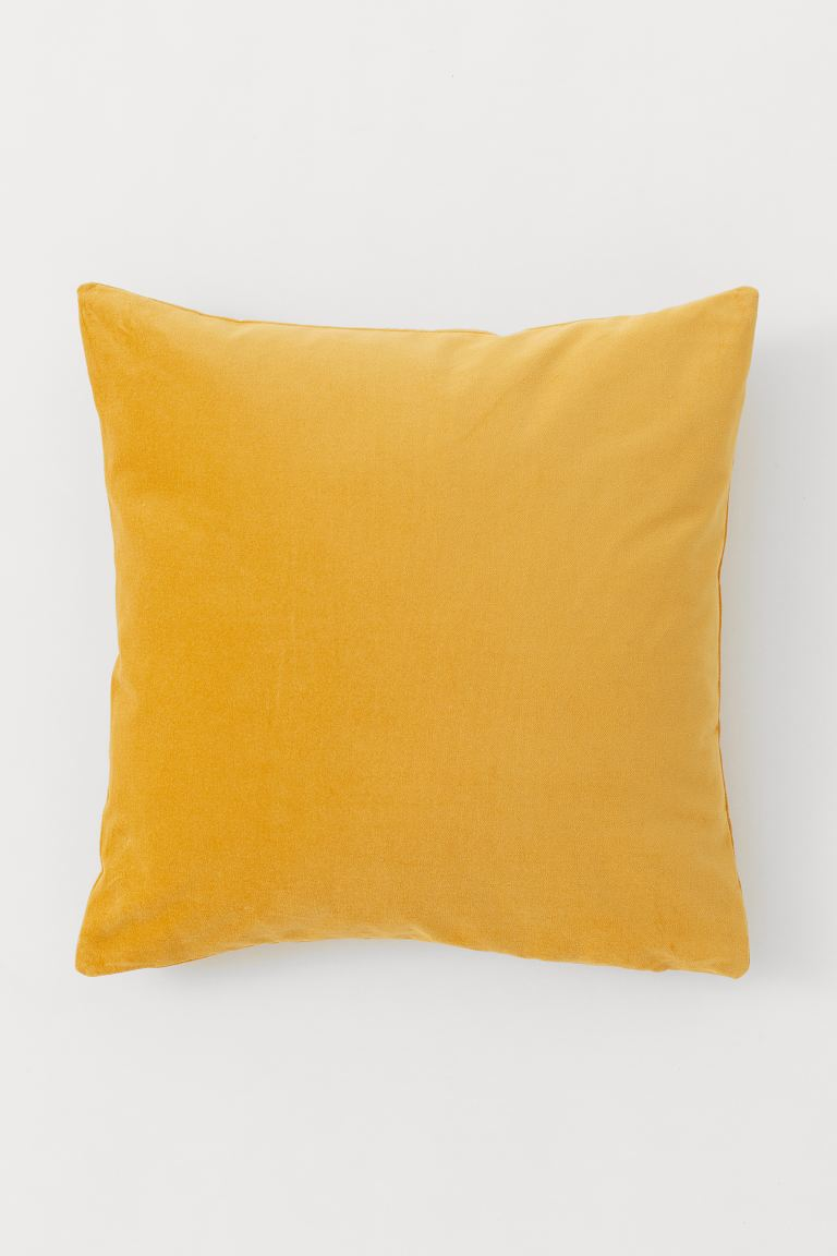 Velvet Cushion Cover - Saffron yellow - Home All | H&M US