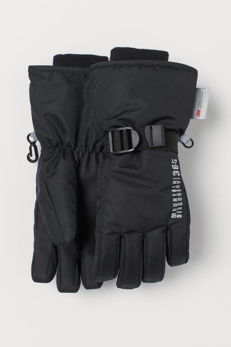 Water-repellent ski gloves - Black - Kids   H&M GB