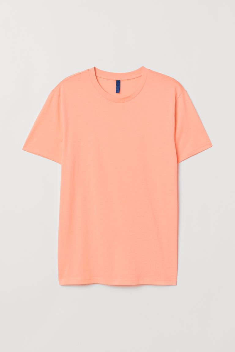 Round-neck T-shirt Regular Fit - Apricot - Men | H&M