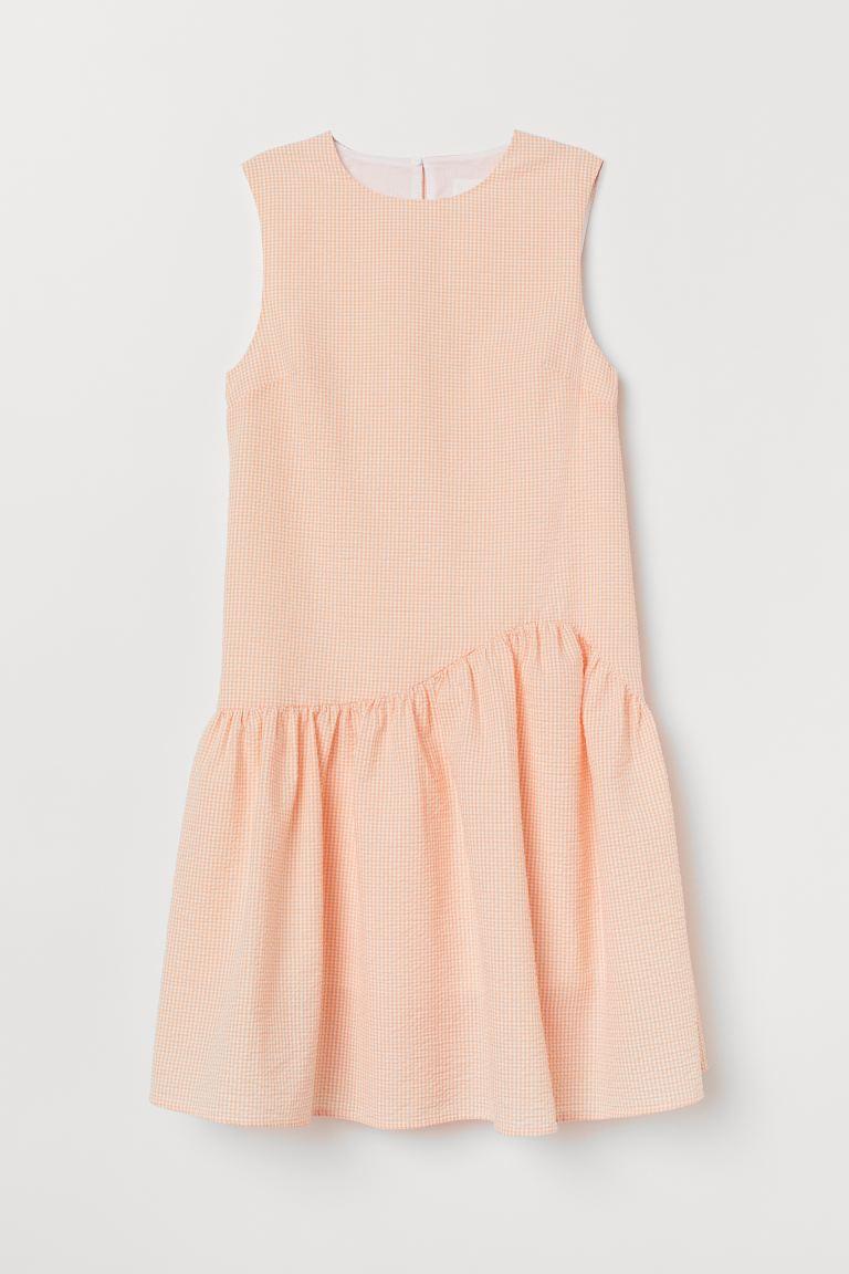 Seersucker Dress Light Orange Ladies H M Us