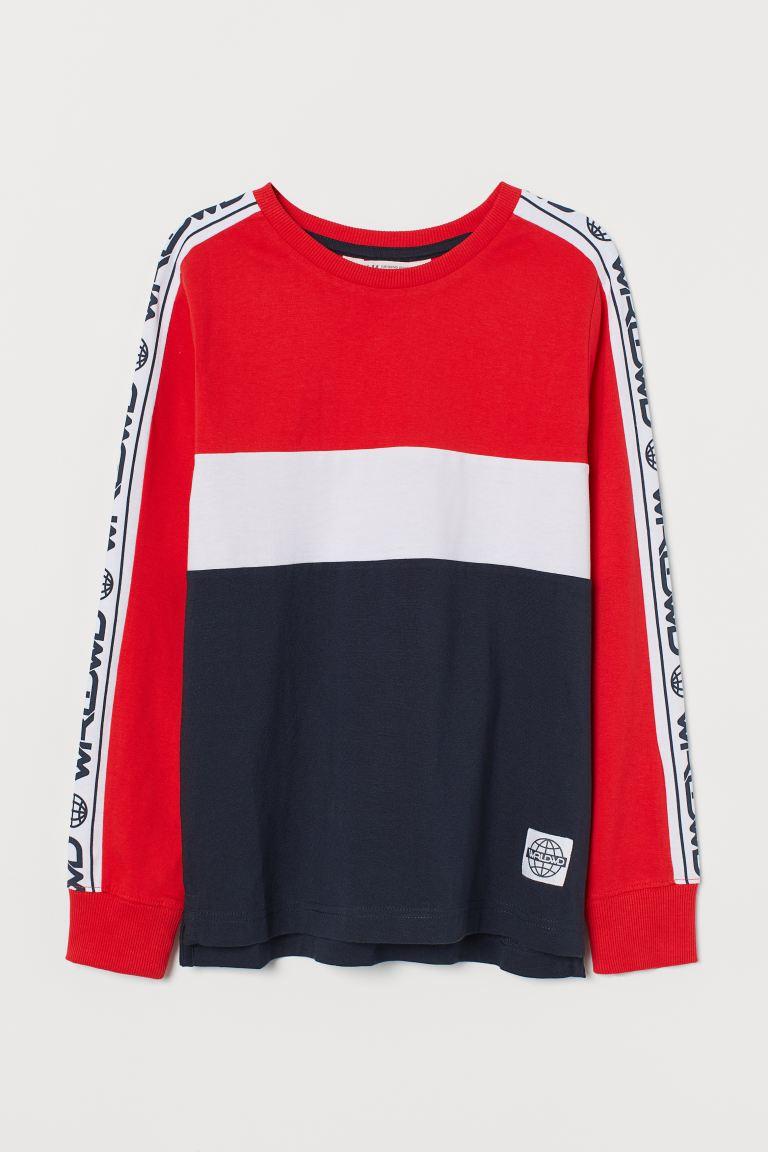 Block-coloured jersey top