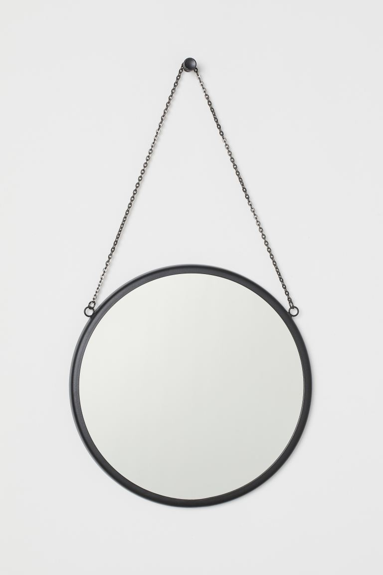 Round Wall Mirror - Black - Home All | H&M CA