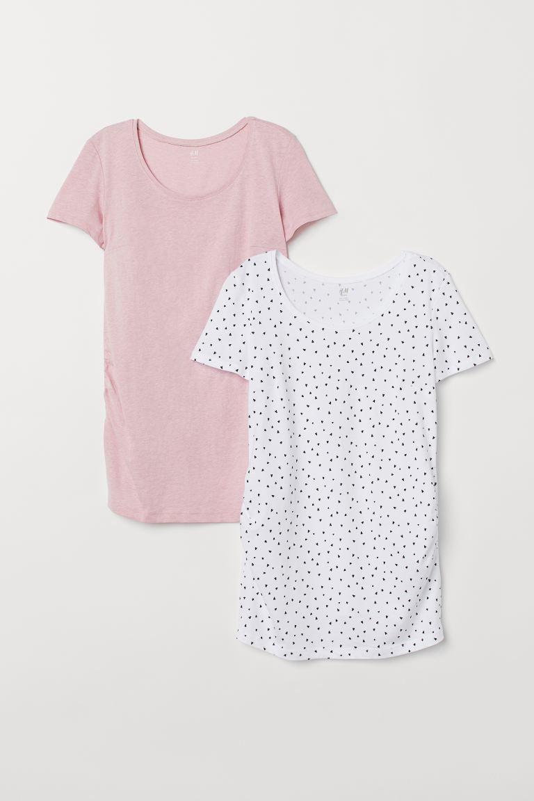 MAMA 2-pack playeras en punto - Blanco/Cipria - Ladies | H&M MX