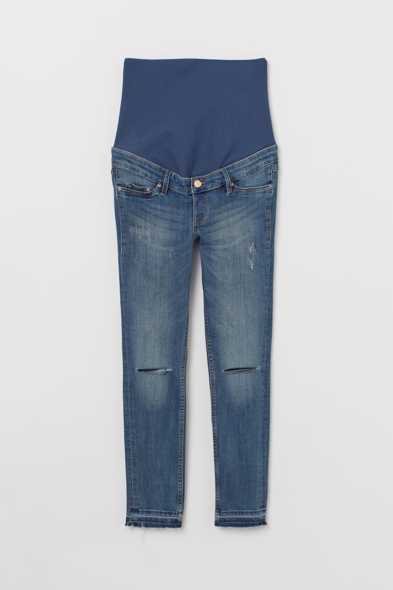 MAMA Skinny Ankle Jeans - Denim blue/Trashed - Ladies | H&M GB