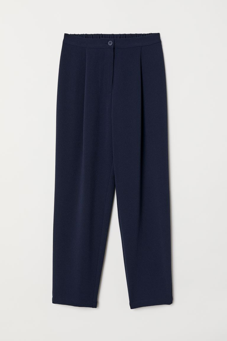 Wide-leg Pants - Dark blue - Ladies | H&M US
