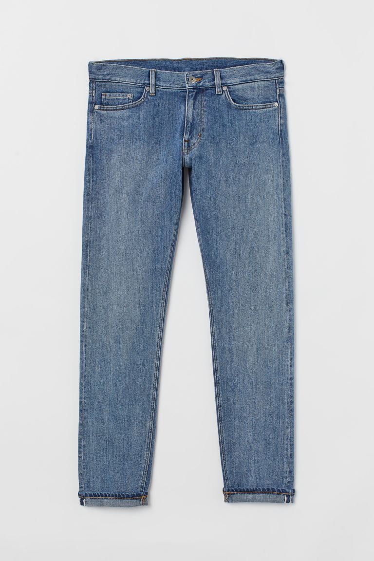 Slim Selvedge Jeans - Denim blue/Washed -  | H&M