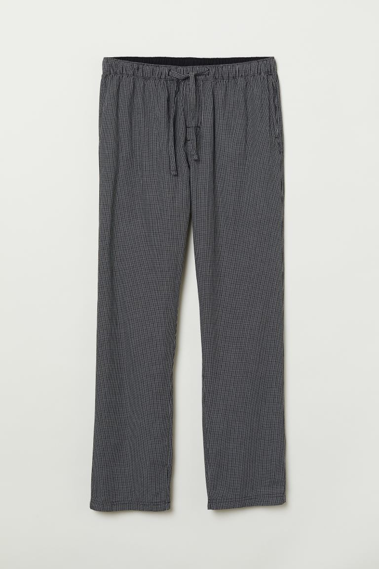 Pyjama bottoms - Black/Checked - Men | H&M