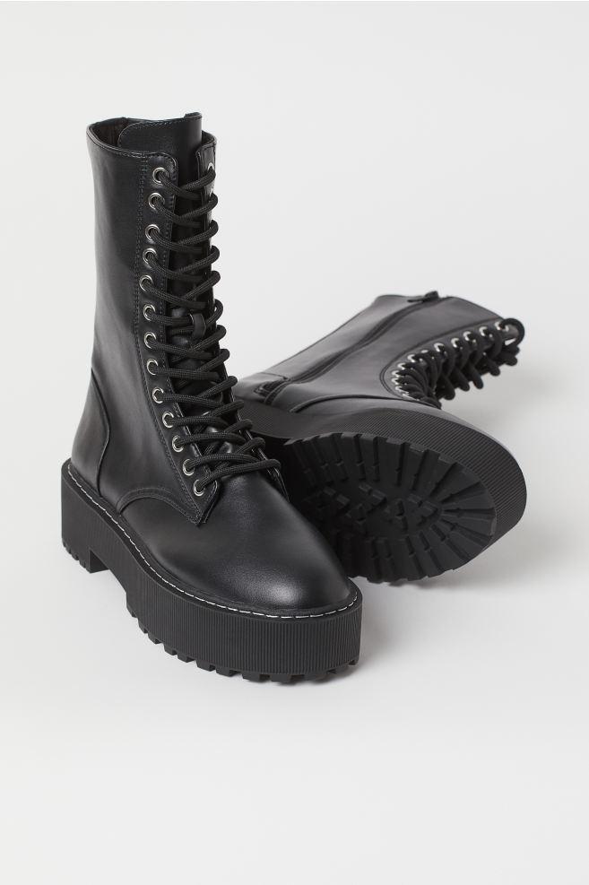 Platform Boots - Black - Ladies | H&M US 2