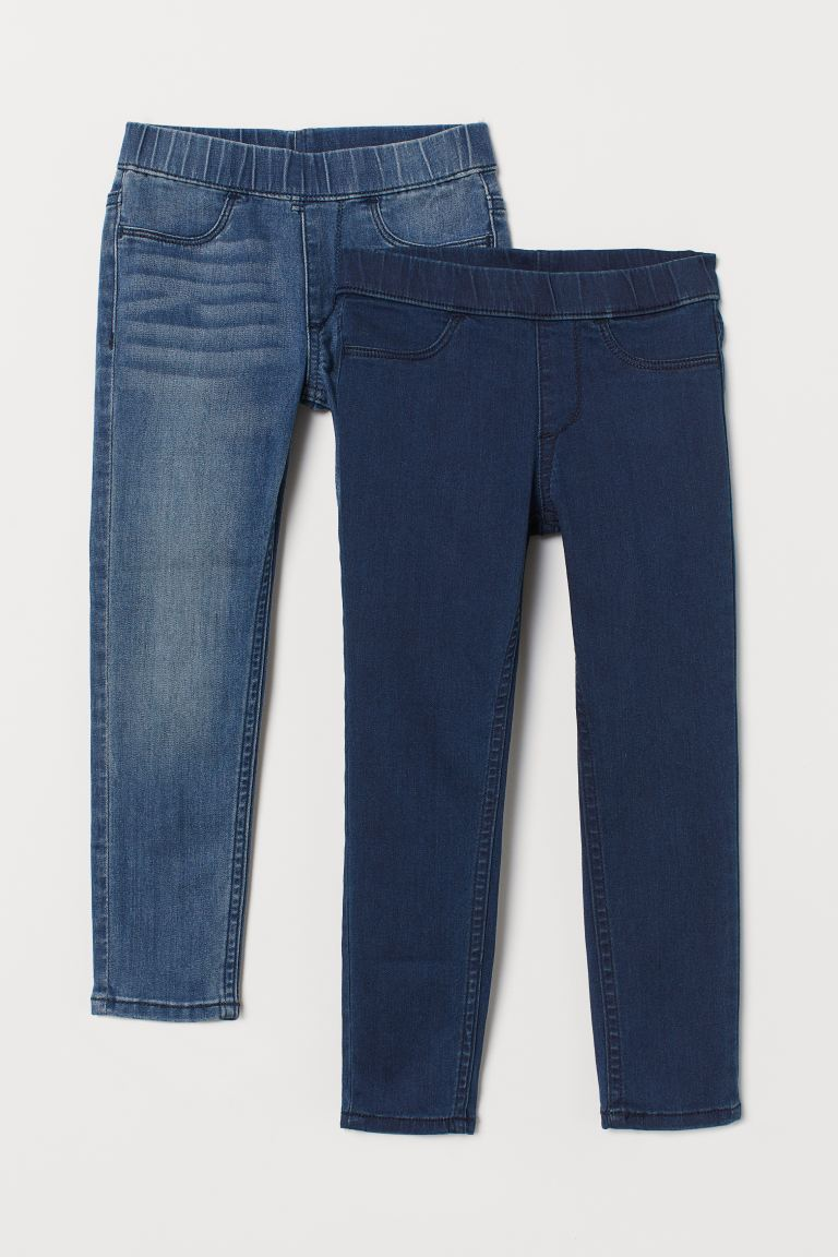 2-pack denim leggings - Dark blue/Denim blue - Kids | H&M GB