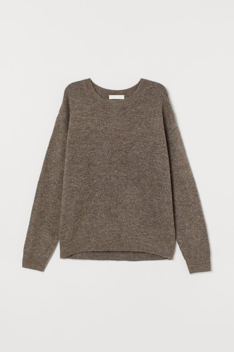 Fine-knit jumper - Greige - Ladies | H&M IE