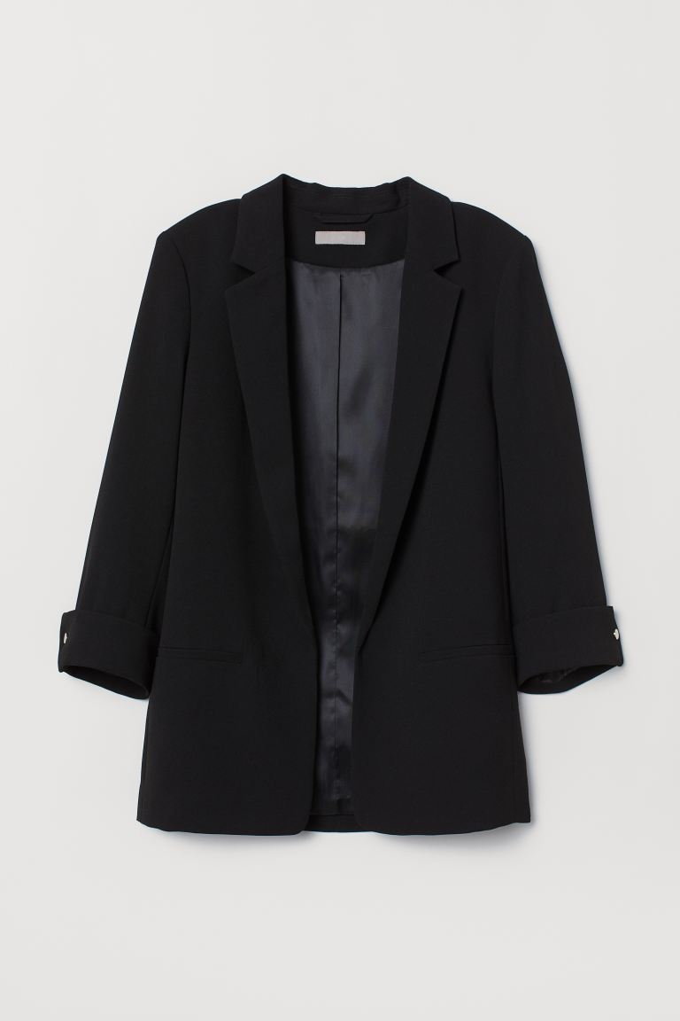 Crêpe jacket - Black - Ladies | H&M GB