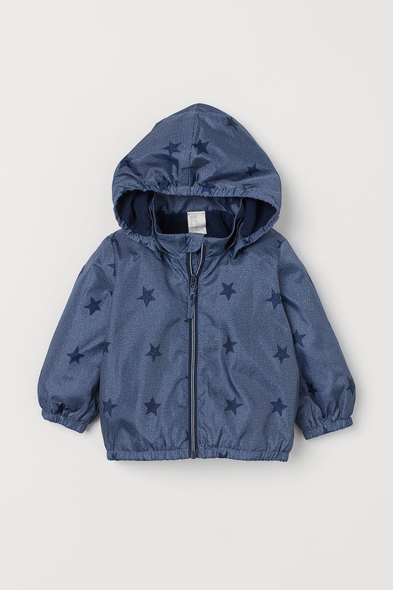 Hooded jacket - Blue marl/Stars - Kids | H&M GB