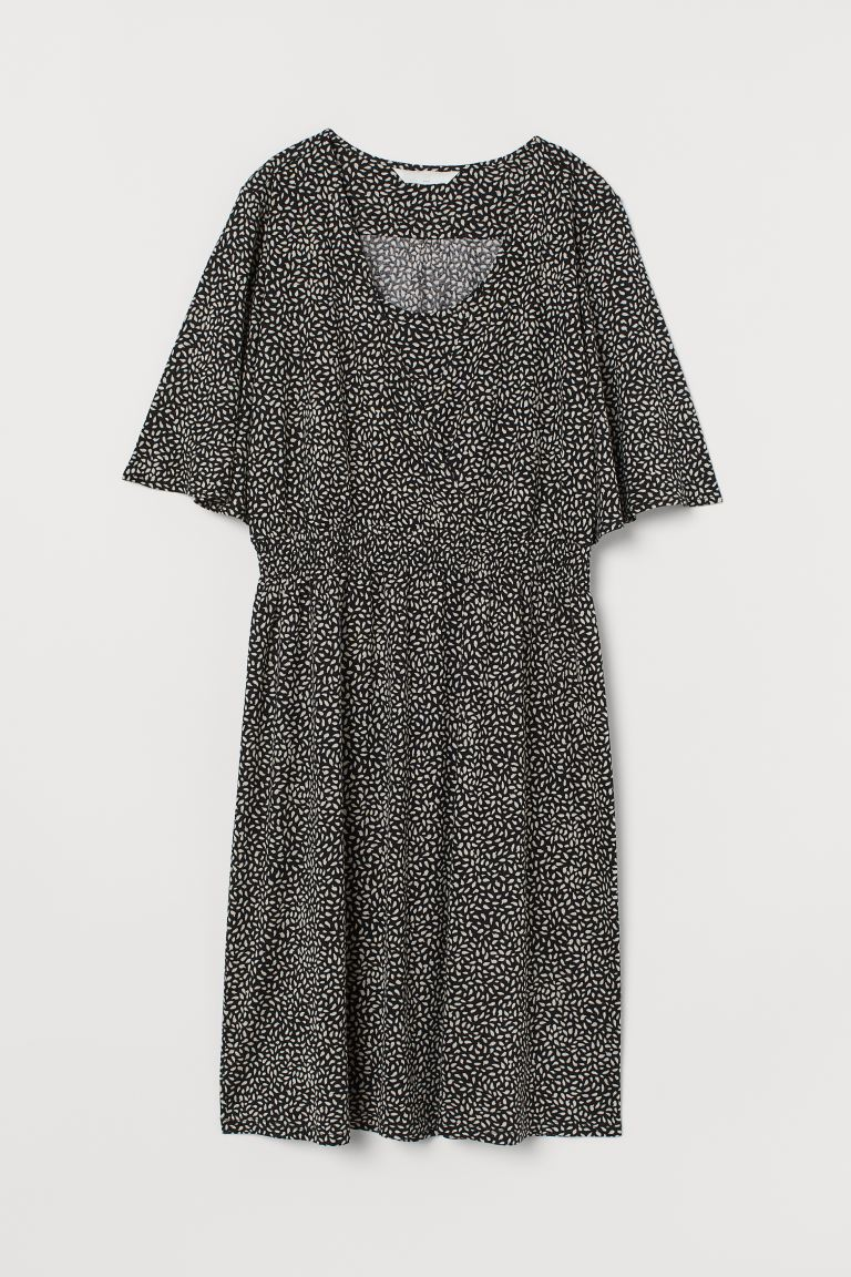 MAMA Nursing Dress - Black/beige patterned - Ladies | H&M CA