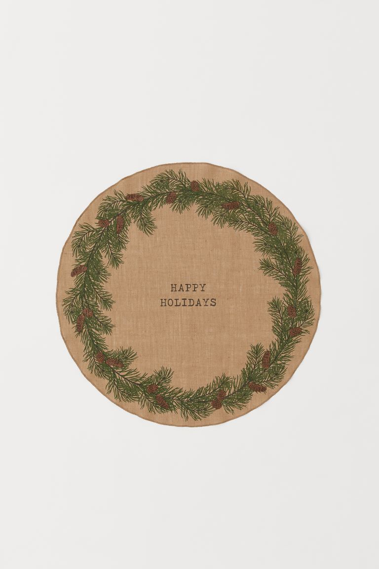 Julgransmatta - Beige/Happy Holidays - Home All | H&M FI
