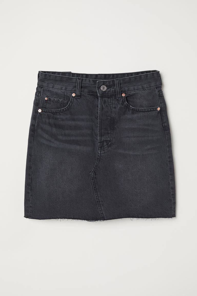 Denim Skirt - Black denim - Ladies | H&M CA