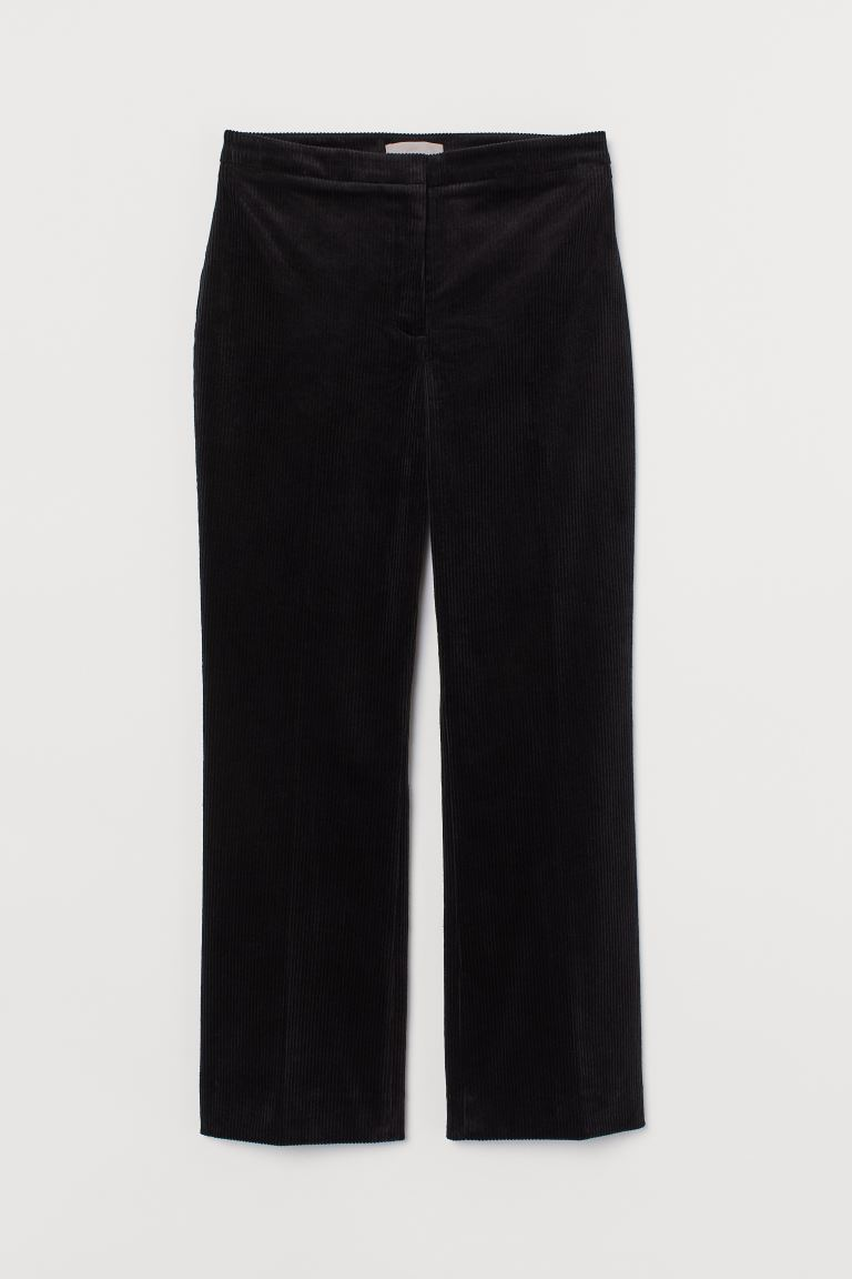 Wadenlange Cordhose - Schwarz - Ladies | H&M AT