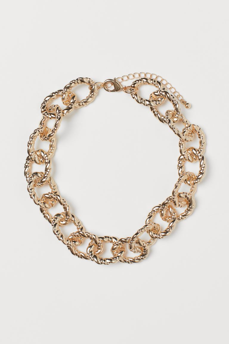 Short necklace - Gold-coloured - Ladies | H&M IN