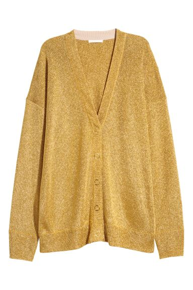 Shimmering Metallic Cardigan - Gold-colored - Ladies | H&M CA