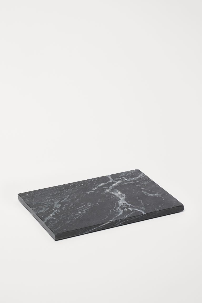Marble serving tray - Black/Marble - Home All | H&M GB