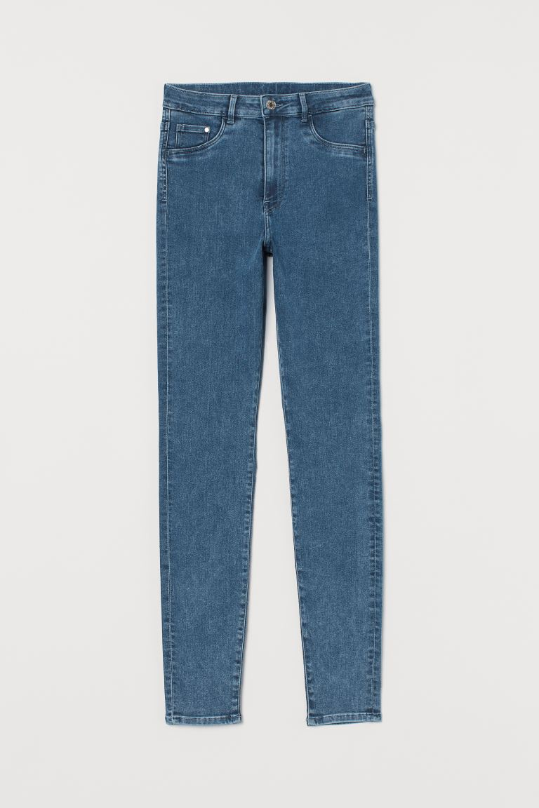 Super Skinny High Jeggings - Denim blue/Washed - Ladies | H&M IE