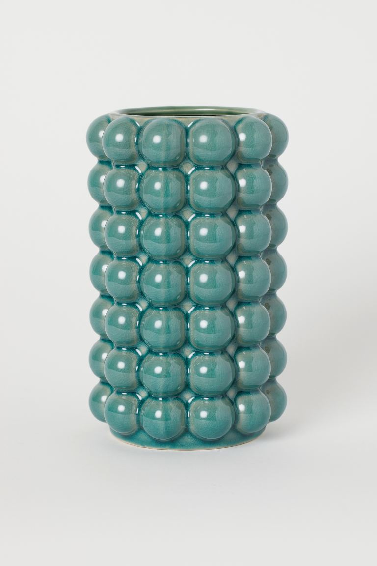 Tall Vase with Bubbles - Green - Home All | H&M CA