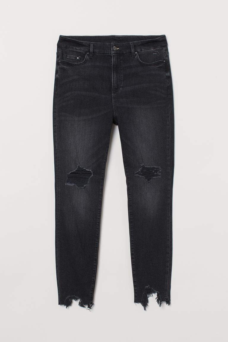 H&M+ Embrace Shape Ankle Jeans - Black - Ladies | H&M US