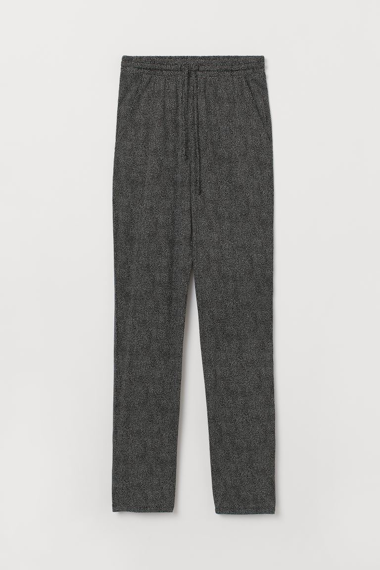 Joggers in jersey - Nero/Bianco pois - DONNA | H&M IT