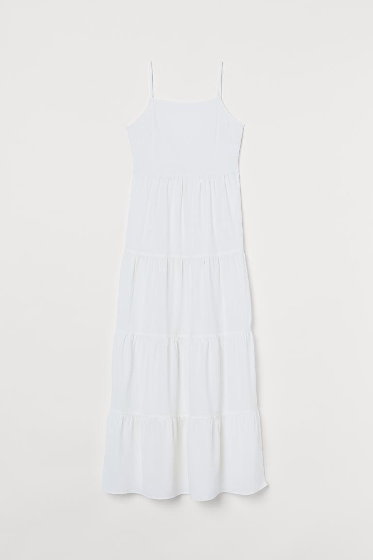 Maxikleid aus Crêpe - Weiß - Ladies | H&M DE 4