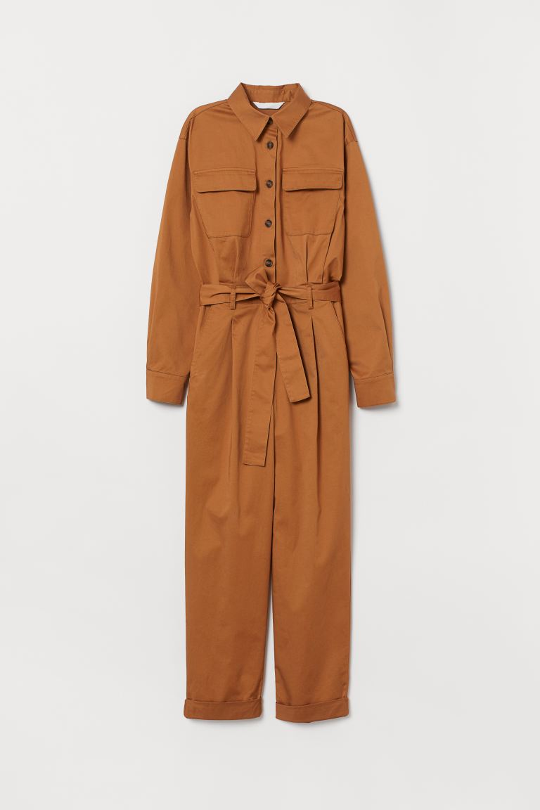 Cargo Jumpsuit - Dark beige - Ladies | H&M CA