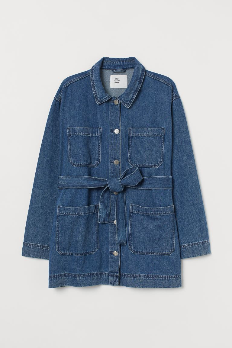 H&M+ Utility-Jacke mit Gürtel